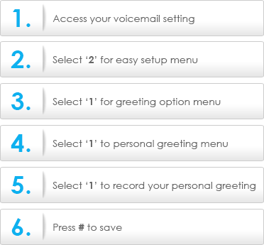 Set personal greeting for voicemail celcom community voicemail m4hsunfo